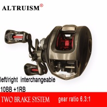 Altruism left right saltwater baitcasting reel moulinet casting peche carp fishing reels china spinning reel metal spool wheel(China)