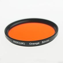 RISE(UK) 52 mm full color orange lens Filter for Nikon D3100 D3200 D5100 SLR Camera lens