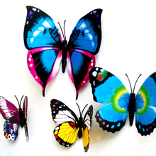 2015 Hot New 6 Small & 6 Big For Home Fridge Decoration 3D Butterflies Decals Butterfly Wall Stickers Gossip Girl Same Style