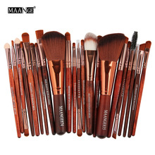 MAANGE Professional 22 PCS Makeup Brushes Tools Set Foundation Powder Bulsh Eyeshadow Eyeliner Lip Make Up Brush Cosmetic Tools(China)