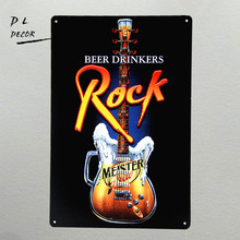 DL- TIN SIGN Beer drinks Rock Metal Decor Art Auto Shop Garage wall stickers for kids rooms