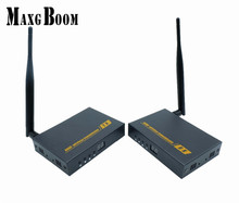 MaxgBoon Extender 60M WIFI HDMI Transmitter Receiver 3D 1080P HDCP 1.2 for HDTV DVD PC Support 1 TX to 4 RXs Free Shipping(China)