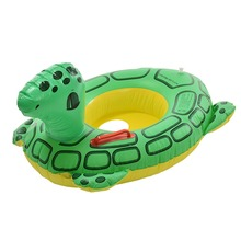 Kids Baby Cute Green Turtle Animal Inflatable Swim Ring Float Seat Swimming Pool Tools(China)