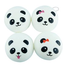 Jumbo Panda Squishy Soft Buns Cell Phone Key Chain Bread Phone Straps Mobile Phone Chain Strap Decoration Gift