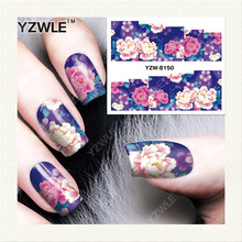 YZWLE  1 Sheet DIY Designer Water Transfer Nails Art Sticker / Nail Water Decals / Nail Stickers Accessories (YZW-8150)