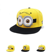 Parenting Kids Baseball Caps Cartoon Minions Boys Girls Snapback Adjustable Cap Hats Children Flat Hip Hop Caps free shipping
