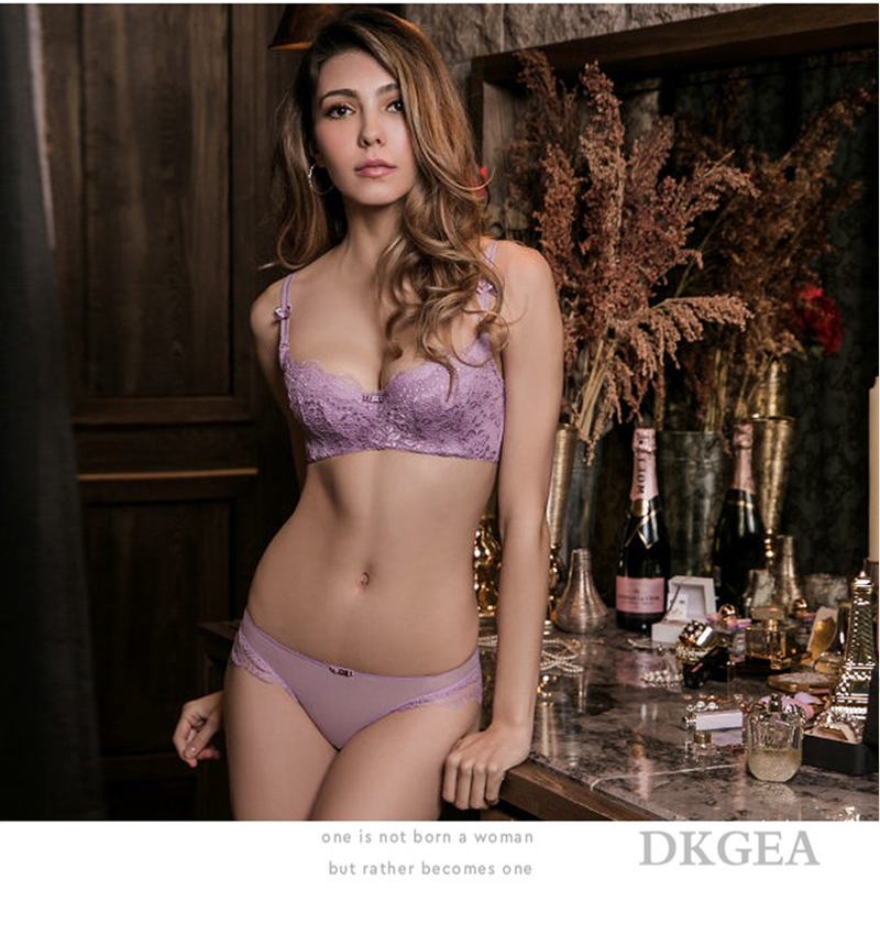 Young Girl Green Sexy Bra Set Plus Size D Cup Thin Cotton Brassiere Lace Underwear Women Sets Black Embroidery Lingerie Luxury 10