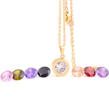 Fashion Necklace for women 2015 316L Stainless Steel DIY Crystal Charm Pendants Necklaces(China)