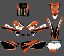 New (0388 Star ) STEAM GRAPHICS&BACKGROUNDS DECALS STICKERS Kits Fit for KTM 85 SX 2006 2007 2008 2009 2010 2011 2012(China)