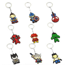 Avengers Keychain Thor Captain America Hulk The Flash Deadpool Batman Key Ring Holder Chaveiro Car Key Chain Pendant Jewelry(China)