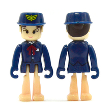 D1051 Free shipping Hot selling Thomas electric train track in the world scene policewoman doll toys for children(China)