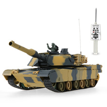 Original HENG LONG 3816 1/24 USA M1A2 Abrams Airsoft Battle Panzer RC Tank with Programming Function