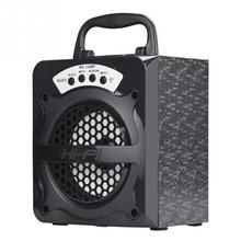 Audio Amplifier Speakers MS-130BT Bluetooth Wireless Portable Speaker Super Bass with USB TF AUX FM Radio(China)