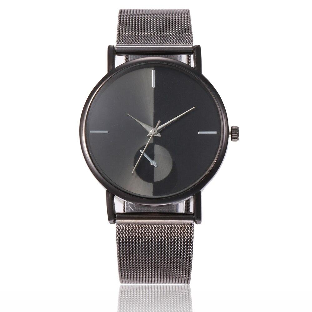 Watches Couple Glass Leather Skin Strap Womens Watch Mens Watch Quartz Lovers Watches Montre Femme 2019 Ladies Watch Dames Horloges