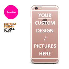 Personalized Custom Design DIY Silicone Case For iPhone X 6 6S 6 Plus 6s Plus 5 5S SE 7 8 Plus Customized Transparent Cell Cover(China)