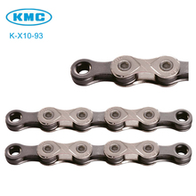 Original KMC K-X10-93 10 Speed for Trekking 116 Links Half Nickel Plated 10S Chain + Missing Link(China)