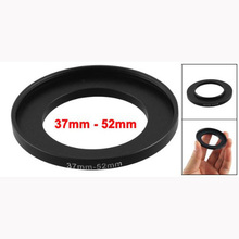 Top Deals Camera Lens Filter Step Up Ring 37mm to 52mm Adapter Black