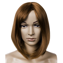 Soft Natural Medium Straight Bobo Human Hair Full Lace Wigs Lace front wig Hot UK Hair Clips On High Quality(China)