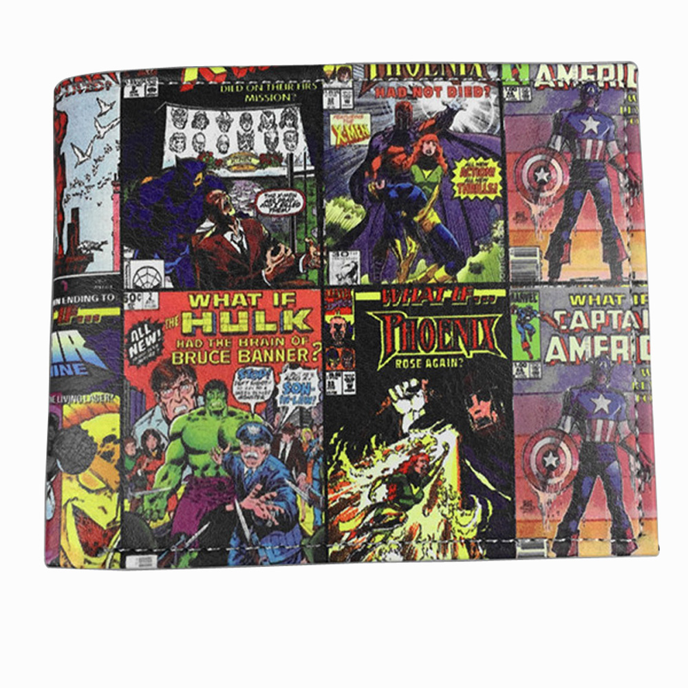 Marvel Comic Wallets Book of The Alliance Anime The United States Captain of America Iron Man Green Giant Spider Man Wallet<br><br>Aliexpress