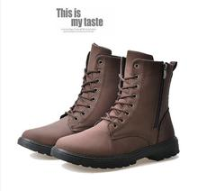 Fashion Men's Shoes Martin Casual Mens Motorcycle Boots Fashion Lace Up High Boots Round Toe Mens Boots Autumn Winter Shoes Z36