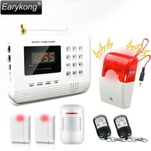 Hot Selling Free Shipping wholesale Wireless PSTN GSM Alarm System 433MHz Home Burglar Security Alarm System(China)