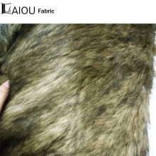 Black Brown Jacquard 5cm Long Hair Faux Fur Fabric Fashionable Lightweight Coat Blanket Throw Toy Sew Material