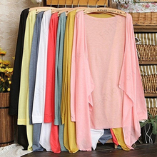 New Arrival Women Fashion Summer Beach Sunscreen Casual Long Sleeve Cardigan Shawl Coat