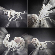 Chinese Zodiac 3D Metal Puzzle Taotie 3D Metal Model Kit Cerberus CERBERI Educational Toys Cello 3D Model Lucky God Beast