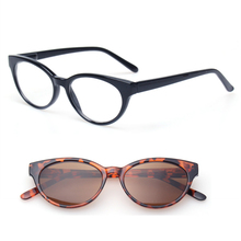 Reading Glasses Men and Women Retro Vintage Style Cat Eye Eyewears Spring Hinge Oval Frame Eyeglasses Includes Sunreader glasses