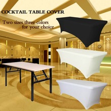 Rectangular Table Cover Spandex Fabric Tablecloth Stretch Bar Bistro for Wedding party Decorations 183 x 75 x 75cm