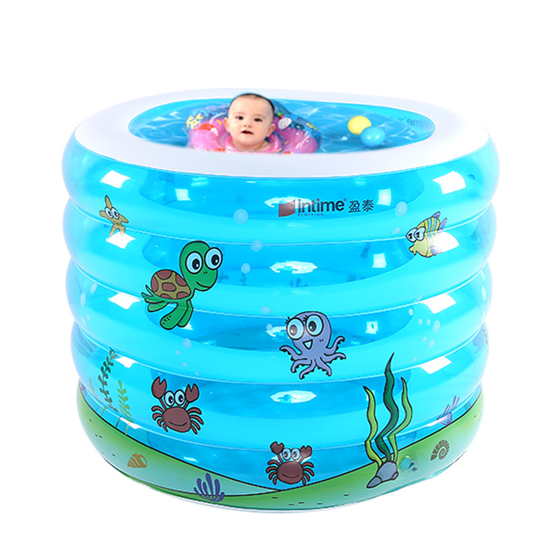 Baby Swimming pool Five Rings Circular Printing Inflatable Thickening and Heightening Large Baby Swimming Barrel
