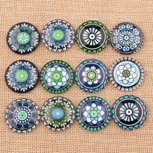 onwear handmade flatback mix symmetric pattern round cabochon 12mm 20mm 25mm glass dome diy hair clip jewelry findings(China)