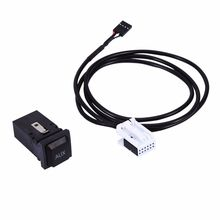 Lonleap Car AUX Set USB Switch Cable for RCD510 RCD310 VW Golf/GTI/R MK5 MK6 Jetta Car Parts(China)