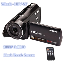 Cheap HDV-V7 Video Camcorder 24Mp Resolution 1920x1080P Full HD 3inch Big Screen NP120 Battery 16X Zoom Wifi Remote Control