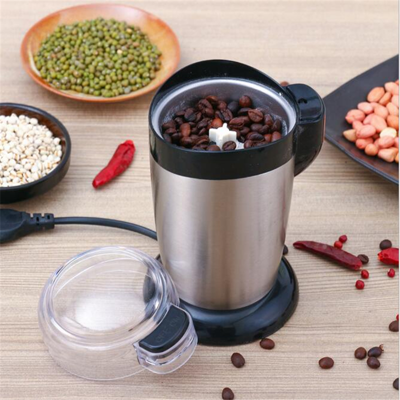 220V 200W Semi-Automatic Electric Coffee Grinder High Speed Grinding Machine Ultra Fine Electric Coffee Grinder Maker<br>