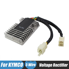 Black Motorcycle Voltage Regulator Rectifiers for KYMCO Quannon 150 Venox 250 DINK 200 EU3i Downtown 125 200 300 People 250 300(China)