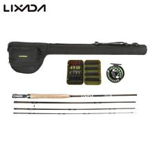 Lixada Fly Fishing Rod Reel Combo Full Kit With Lures Line Fishing Gear In Storage Bag Pesca Carbon Fiber Fishing Pole Reel Set