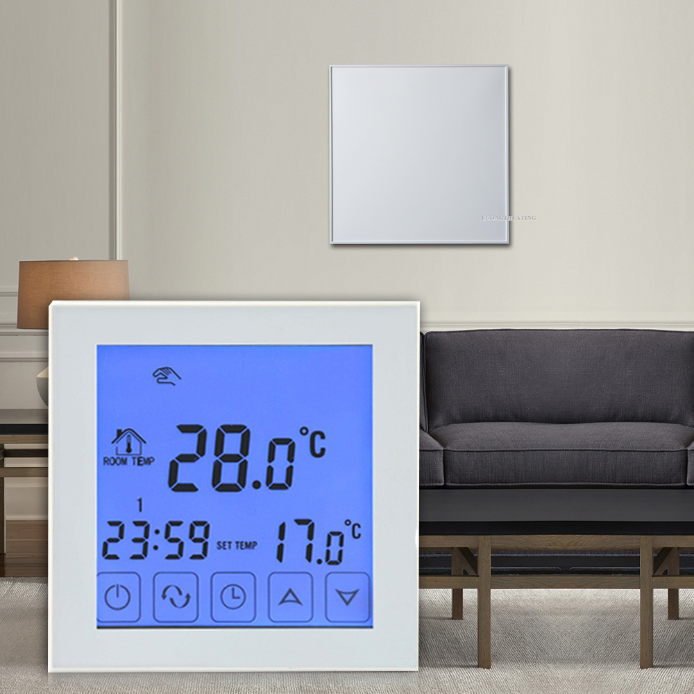 Touch Screen Home Heating Thermostat Infrared Heating Panels Temperature Controller White Color<br>