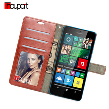 Crazy Horse Retro Photo Frame PU Leather Case For Microsoft Lumia Nokia Lumia 730 735 520 535 550 650 630 640 XL Flip Cover