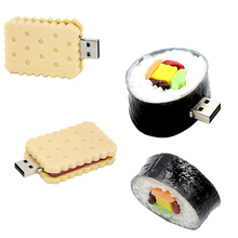 Pendrive 128GB sushi model usb flash drive 4GB Hamburg stick 8GB 16GB 32GB 64GB pen drive memory flash drive Biscuit cake