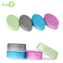 Portable medicine Silicone pill case box Travel cute Pill Cases jewelry earphone Organizer Pill Splitters Container storage bag