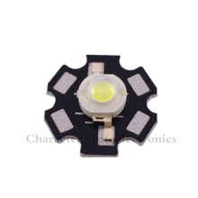 20PCS 1W 3W High Power cool/warm white 3500k 4500k 6500k 10000k 20000k-30000k LED Chip + 20mm star pcb