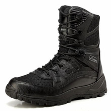 Outdoor Tactical Boots Cordura Military Combat Shoes Camping Desert Boots Black / Desert Size 39-45(China)
