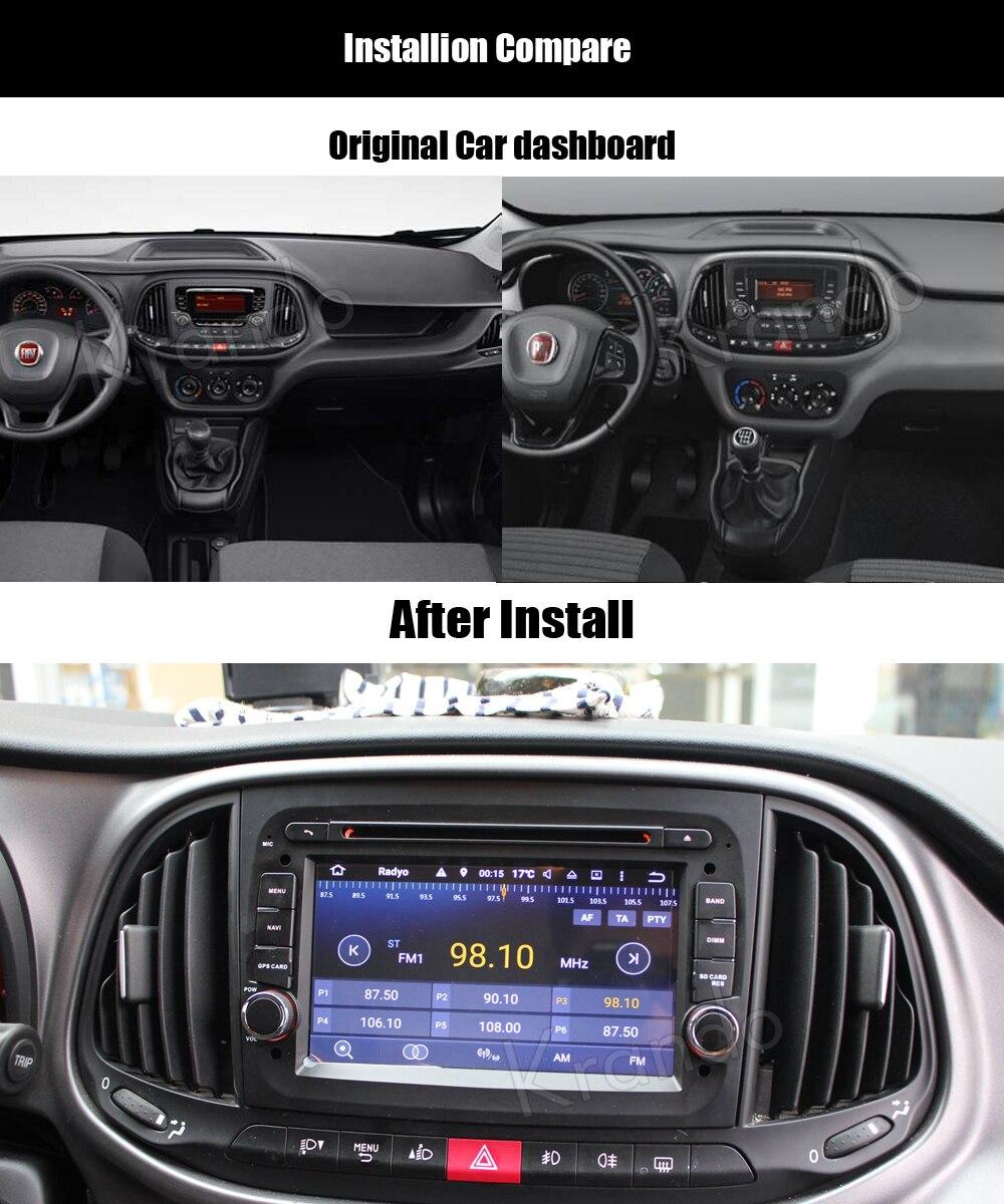 Krando android car radio stereo navigation gps for fiat doblo 2015+ car dvd player multimedia system