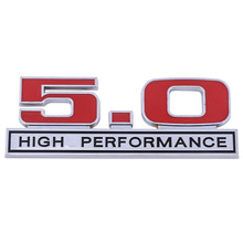 MAYITR Car Styling 3D Metal 5.0 High Performance Badge Car Emblem Sticker Decal for Ford Mustang Car Exterior Accessories