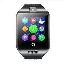 DHL 10pcs/lot NFC Bluetooth Smart Watch Q18 With Camera FM Facebook SMS MP3 Smartwatch Support Sim Card For IOS Android Phone(China)
