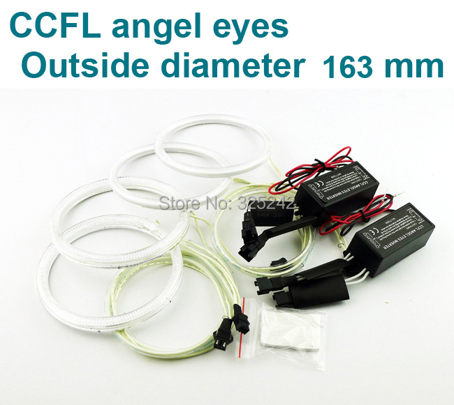 Excellent Ultrabright CCFL Angel Eyes kit full ring OD 163mm size Options:70 75 80 85 90 94 97 100 106 110 115 120 126 140 145mm<br><br>Aliexpress