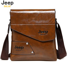 JEEP BULUO Man Messenger Bag PU Leather Male Shoulder Bags Famous Brand Fashion Casual Business Men's Travel Bags For IPAD 204(China)
