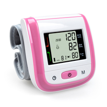 NEW!! PINK Automatic Wrist Blood Pressure Monitor Digital Wrist Blood Pressure Meter Tonometer Sphygmomanometer Tensiometro