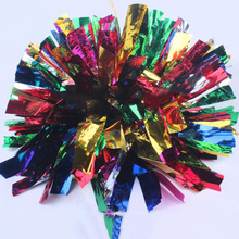 Free Shipping.70G two holes 6colors together colorful Cheering pompom,Metallic Pom Pom,Cheerleading products